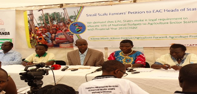 We demand the EAC States to Allocate 10% Budget to Agriculture Sector